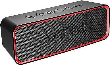 Altoparlante Bluetooth Portatile, VTIN-R2 Cassa Bluetooth 4.2 Impermeabile IPX6 con Basso+ Esclusivo Potente Speaker Bluetooth Senza Fili con Doppia Cassa, Compatibile con Dispositivi Bluetooth per Casa, Giardino, Festa, Auto, Viaggio, Spiaggia, Piscina