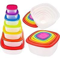 ARSUK Lot de 7 Récipients Alimentaires Boîtes avec couvercles pour cuisine, usage domestique, Passe à congélateur et au…