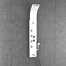 Jaaz Zion Cascade White Shower Panel (Thermostatic)