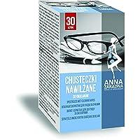 ANNA ZARADNA Lot de 30 lingettes nettoyantes pour écrans de lunettes Blanc 12 x 14 cm