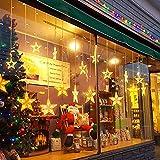 Guirnaldas Luminosas Estrellas Cortina Luces, 138 Leds Telones de Hogar, Led Cortina Cadena Luces Con Control Remoto Para El