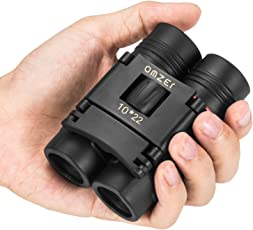 OMZER 10x22 Kids Compact Binocular Lightweight Pocket Folding Binoculars, Fit Children Teens Adults for Birding Hunting Hiking Concert Theater Opera Outdoor Sports etc