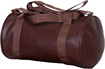 Dee Mannequin 2211 Leather Gym Bag (Brown)