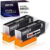 Zambrero PGI-580XL Nero Cartucce Sostituzione per Canon 580 PGI-580 PGI580 Cartucce, Compatibile per Canon TS6150 TR8550 TS62