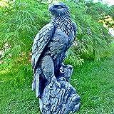 Steinfigur Seeadler Adler Falke Vogel Greifvogel Figur Steingussl Gartenfigur