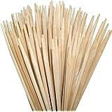 ORANGE DEAL Gartenparty 100 Lagerfeuerspieße 90 cm Lange (Ø6mm) aus Bambus zum Rösten von Stockbrot, Marshmallows…