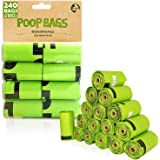 SWIPPLY   Dog Poop Bags supply   16 Rolls With 240 Waste Bag For Dogs & Cats   Outdoors Kitty & Puppy Biodegradable Bag  Extr