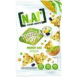 NA! NATURE ADDICTS Tortillas Pop Finement Salé Soufflées à Base de Maïs/Légumineuses 80 g