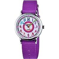KZKR Orologio per Bambini Orologio Educativo per Il Cronometraggio Quarzo Nero Orologio Super