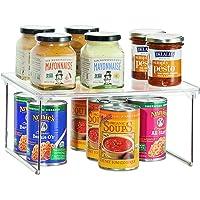 iDesign rangement cuisine, petite étagère de rangement en plastique et métal, étagère à épices empilable pour vaisselle…