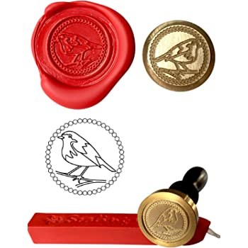 SQUIRREL WITH ACORN Coin Seal and Red Wax Stick XWSC106-KIT Wax Stamp S30