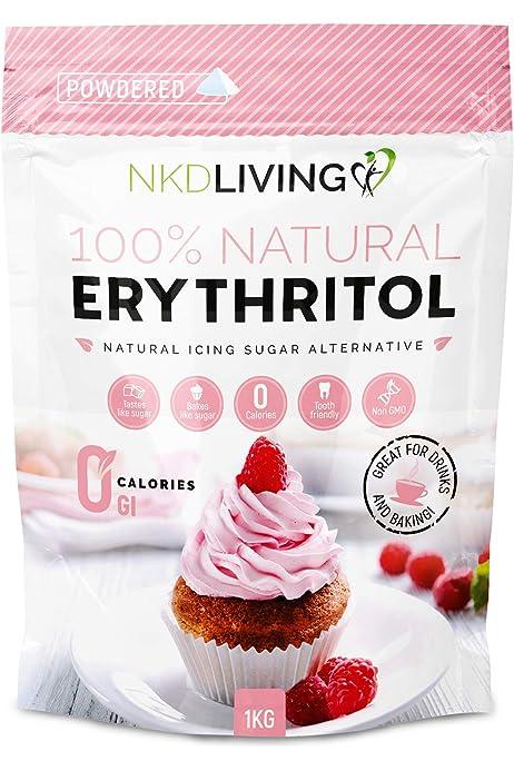 Eritritol en polvo: azúcar glaseado con cero calorías de NKD ...