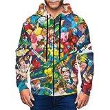 Super Smash Mario Zelda Kirby - Sudadera con capucha para hombre, con bolsillo con cremallera, informal, deportivo, para niño