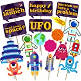 Party Propz 18 pcs Space or Astronaut Photo Booth Props for Party Supplies or Party Decoration