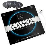 MORIATY® Cuerdas de guitarra para guitarra clásica: cuerdas de nylon prémium para guitarra clásica y acústica (juego de 6 cue