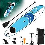LZQ Tabla Paddle Surf Hinchable 305 x 75 cm / 320 x 76 cm / 330 x 76 cm Stand Up Paddling Sup Board: Paddle Board + Sac de tr