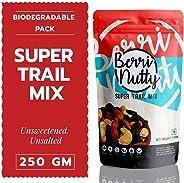 Berri Nutty Super Trail Mix - 250 gms, Unsweetened, Unsalted (Almonds, Cashews, Cranberries & Raisins)