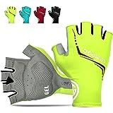 LEMEGO Fietshandschoenen Mountain Racefiets Handschoenen Halve Vinger Fietshandschoen voor Mannen Vrouwen Padding Reflecteren