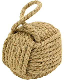 Porte bouchon boule Heavy Nautical Knot Rope butoir pour portes ~ Nouveauté Butée de Porte