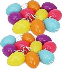 com-four® Bunte Ostereier in unterschiedlichen Farben mit und ohne Selbstklebebildern mit Ostermotiv