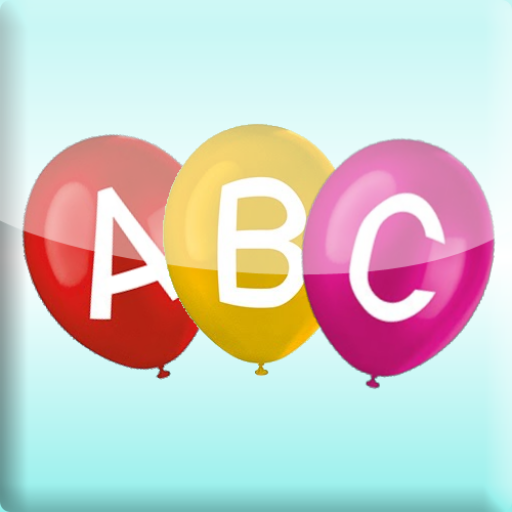 Gold Alphabet-magnete (Pop Alphabets balloons. for kids and toddlers.)
