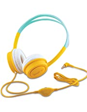 iBall Kids Diva Kids Safe Wired Headphone with in line Volume Controller-Yellow and Light Blue