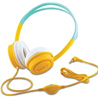 iBall Kids Diva Wired Over The Ear Headphone Without Mic (Yellow and Light Blue)