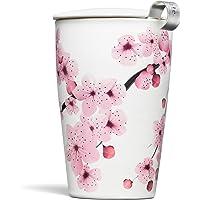 Tea Forte Kati Cup Tasse à thé en céramique avec infuseur et couvercle pour infuser, Hanami