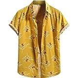 SSLR Camisas de verano para hombre de manga corta Aloha ...