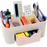 ShopEnjoy Mart Multipurpose Office Desktop Table Organizer Storage Box Remote Marekers Pen Pencil Holder Cosmetic Makeup Stan