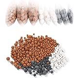 Vicloon 9 Packs Minerale Ballen Negatieve Ionen, Vervangende Bioactieve Steen, pH Balans Toermalijn Ballen Douchekop Filter N