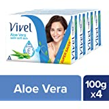 Vivel Aloe Vera Bathing Bar, 100g (Pack of 4)