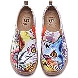 UIN Scarpe Ginnastica Scarpe Espadrillas per Donna Casual Slip on Mocassini Sneakers Basse Colorate in Tela Dipinta a Mano