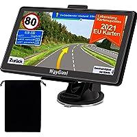 GPS Navigationsgerät für Auto LKW - WayGoal Navigation mit Tasche 7 Zoll Navi für Auto PKW, 2021 Europa UK 52 Karten…