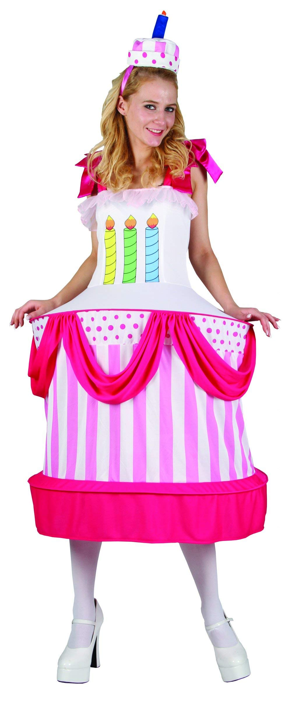 Disfraz de tarta de cumpleaños mujer Única
