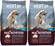 Meat Up Adult Dog Food, 3 kg (Buy 1 Get 1 Free)