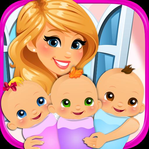 Newborn Triplets - Newborn Baby & Mommy Pregnancy Games FREE