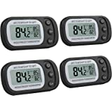 Justech 4PCs Higrometros Digitales Colgantes con Ganchos Termometro Higrometro Impermeable Ipx3 Medidor de Temperatura con 4