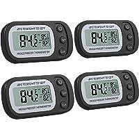 Justech 4pcs Thermomètre de Réfrigérateur Thermomètre à Congélateur numérique avec Grand Écran LCD et Fonction d…