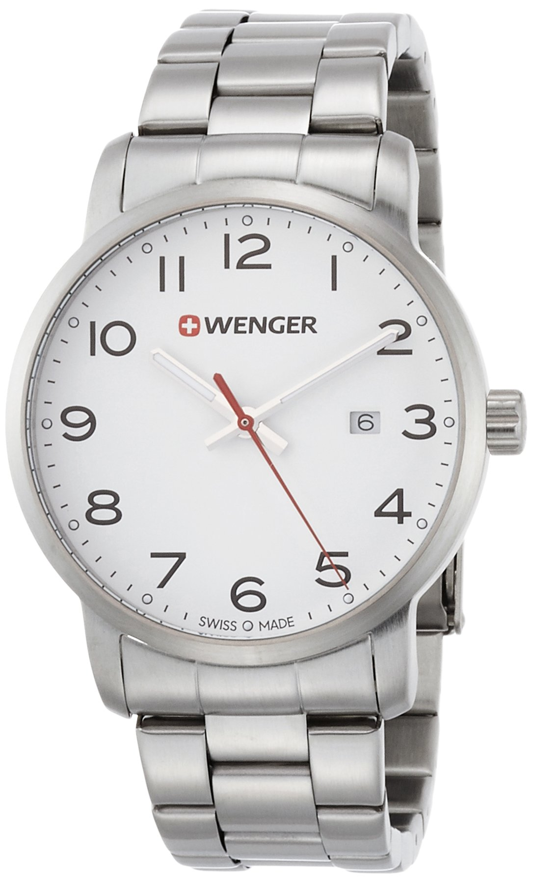 WENGER Unisex Analogue Quartz Watch with Stainless Steel Strap 01.1641.104