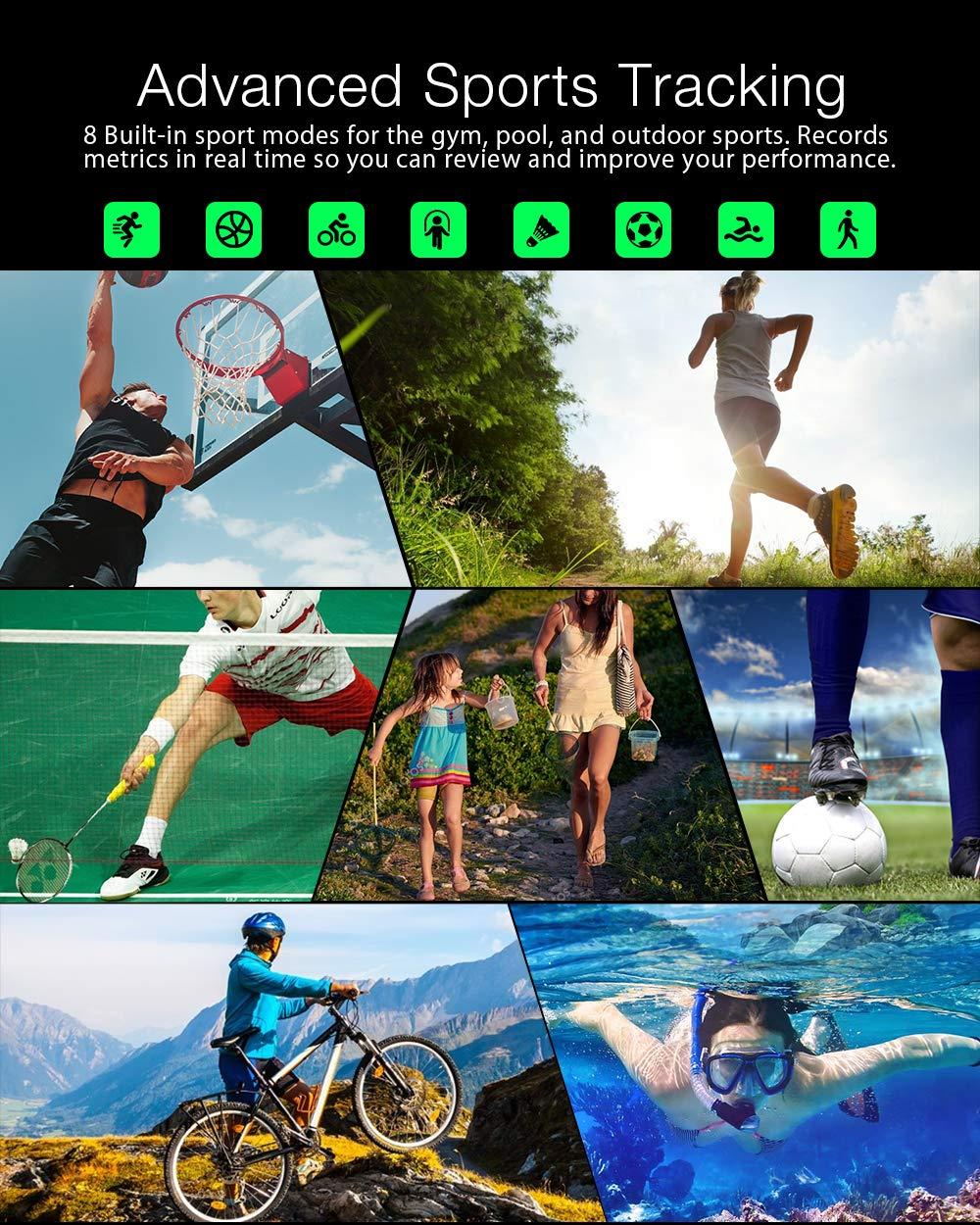BlitzWolf Smartwatch, Reloj Inteligente IP68 Impermeable, HD Pantalla de
