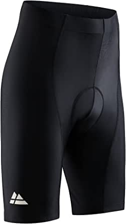 DANISH ENDURANCE Men's Premium Bike Shorts with Padding, Cycling Gear, Padded Cycling Shorts, Breathable Chamois Cycle Pants, Mountain Bike Gear, Spinning, Quick Dry, Tight, Stretch, Flexible, 1 Pack