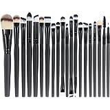 EmaxDesign 20 pezzi-Set di pennelli professionali per trucco, volto ombretti e Eyeliner Powder liquido Makeup Brushes Cosmeti