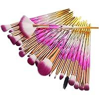 Pinceaux de maquillage, ensemble de pinceaux 20pcs Nincee pour mélange de fond de teint poudre correcteur de blush surligneur ombres à paupières kit de pinceaux (Rose)
