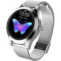Tondo IP68 impermeabile touchscreen intelligente orologio for donna, SmartWatch KW10, inseguitore fitness con frequenza…