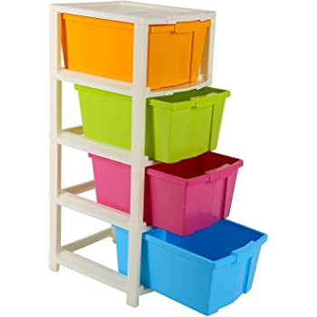 Joyful Studio 4 XLPlastic Modular Drawer System, Multi Colour(31cmx39cmx80.9 cm)