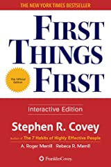 First Things First (English Edition) Format Kindle