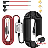 Dash Cam Hardwire Kit Micro USB Harter Draht Auto Ladegerät Kabelsatz, Driving Record Kamera, GPS Navigator, Radarwarner 12V to 5V, DC 12V - 24V (Micro USB)