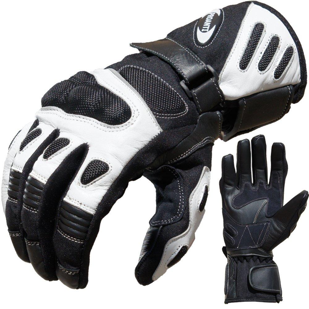 PROANTI� 500305XXLW - Guanti da ciclismo, colore: Black-and-White