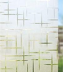 rabbitgoo Fensterfolie Selbstklebend Sichtschutzfolie Dekofolie Anti-UV